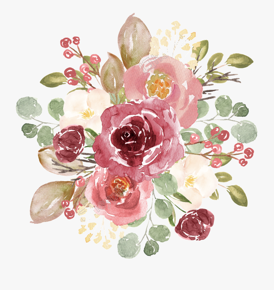 Drawn Red Rose Aesthetic Rose Gold Floral Png Free Transparent