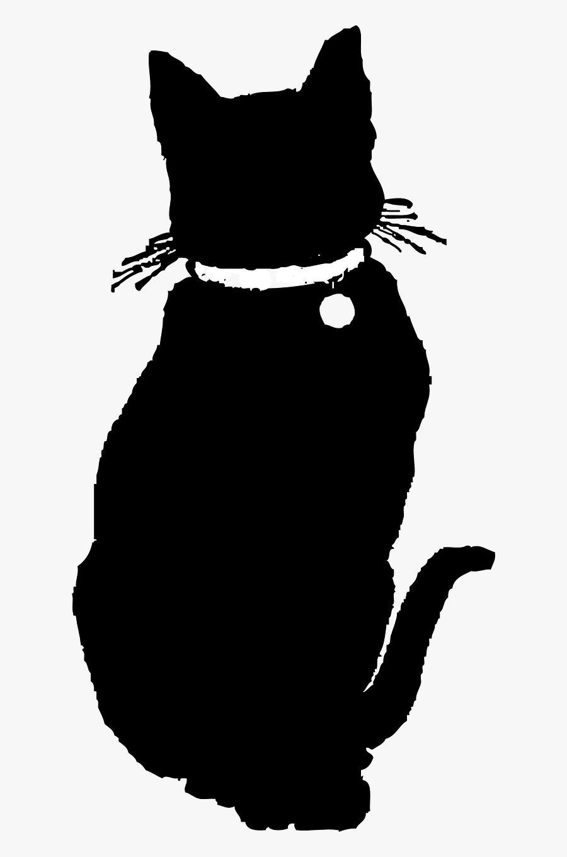 Cat Pet Animal Free Picture - Black Cat Clipart Bw, Transparent Clipart