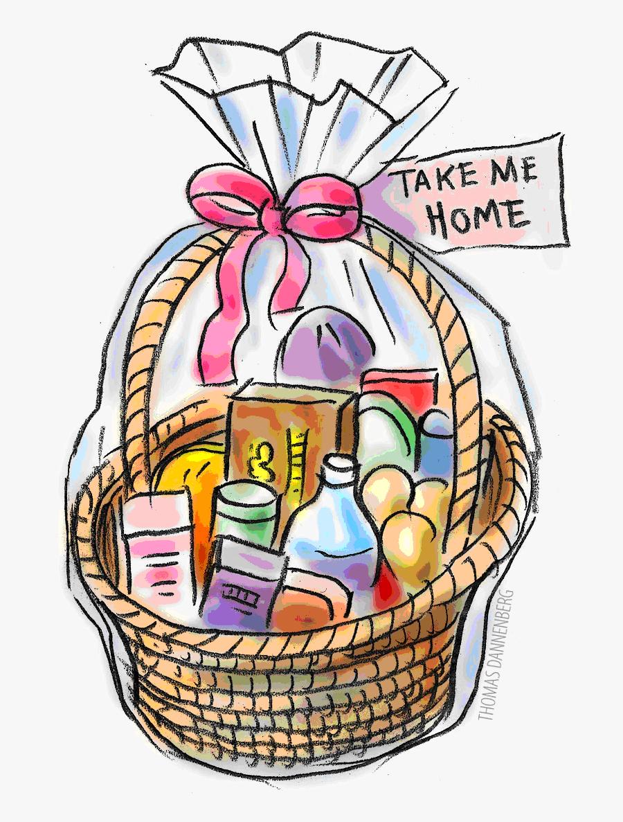 Thanksgiving Raffle Basket Clipart - Gift Baskets Clip Art, Transparent Clipart