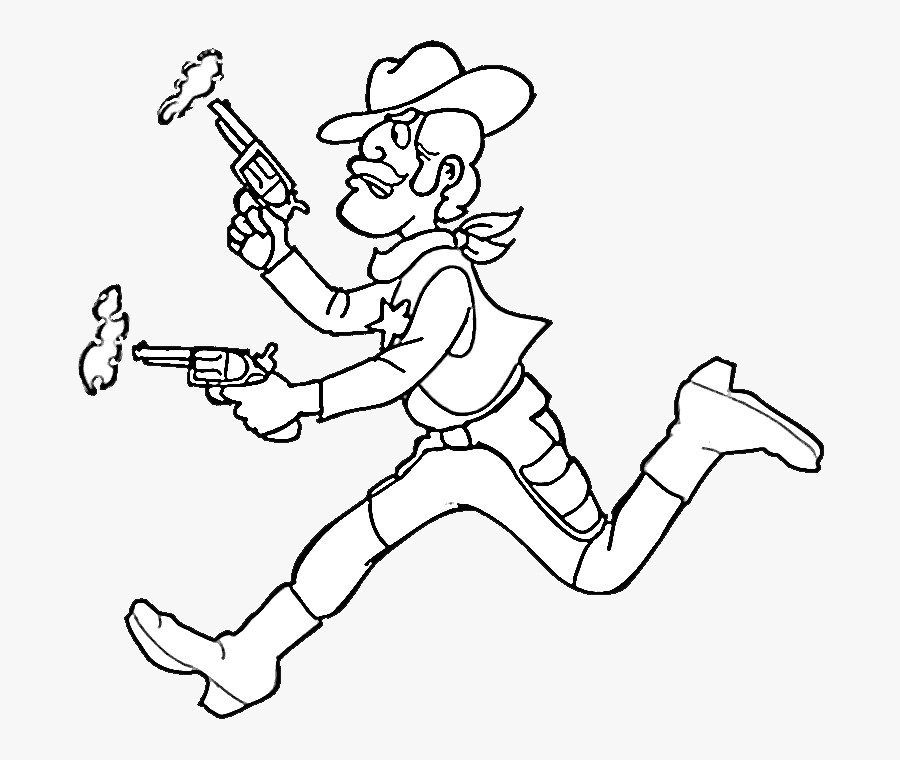 Cowboy Cowgirl Coloring Pages Cowboy Coloring Pages Free Transparent Clipart Clipartkey