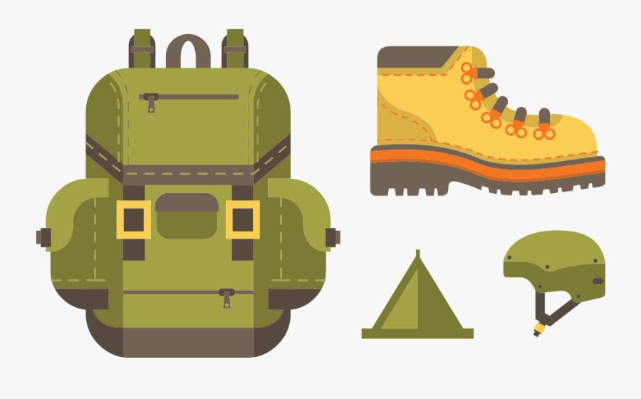 Mountain Hiking Equipment, Transparent Clipart