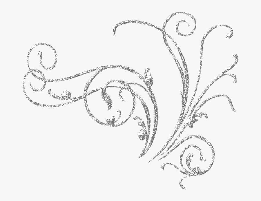 #metal #decoration #border #edge #frame #silver #flowers - White Background Swirls Transparent, Transparent Clipart