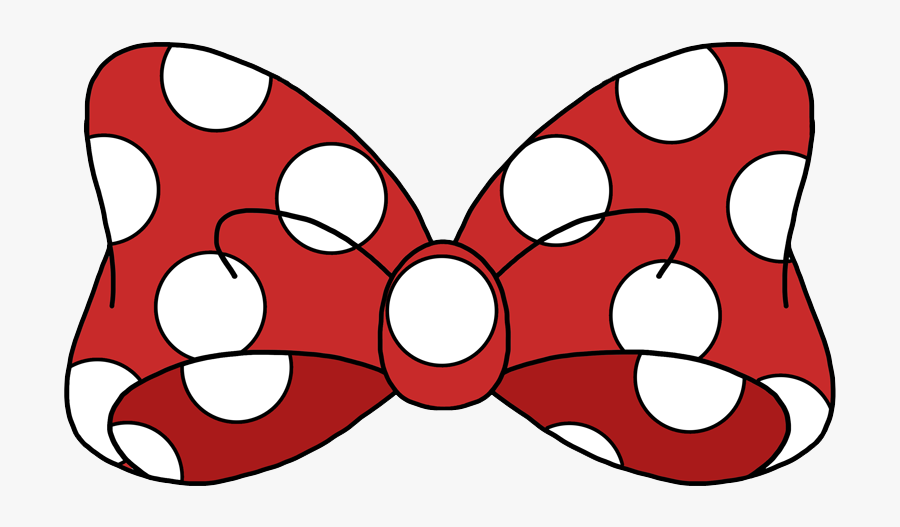 Mickey Mouse Bow Png - Minnie Mouse Bow Png, Transparent Clipart