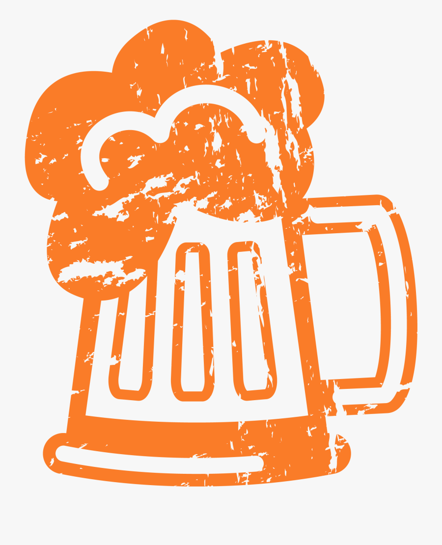 Beer Text With Cartoon Beer Mug B4000 - Cartoon Beer Mug Transparent, Transparent Clipart