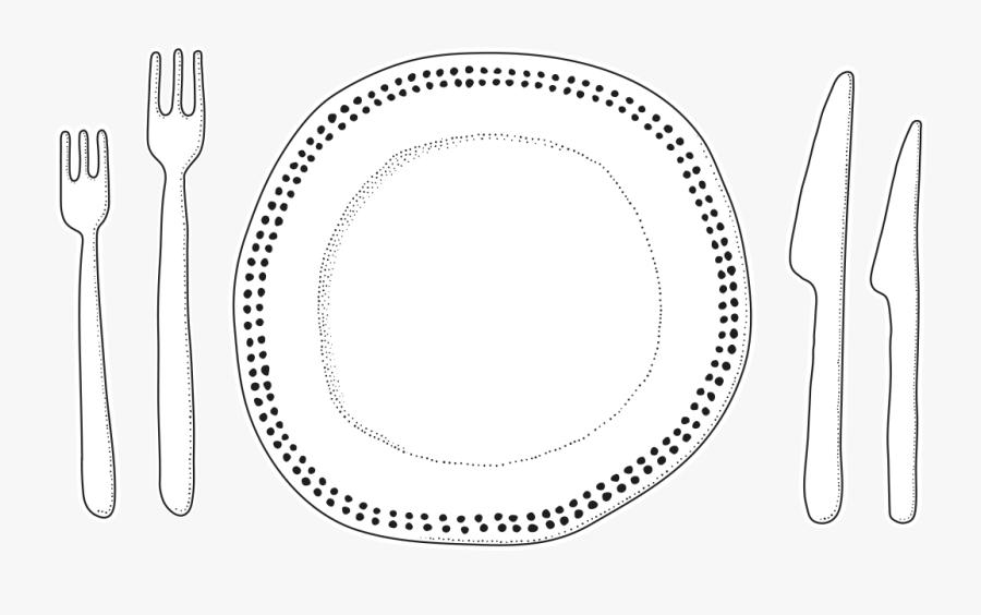 Plate - Fork, Transparent Clipart