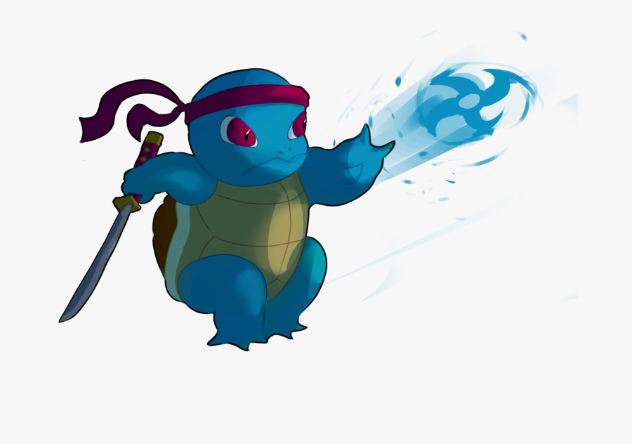 Transparent Squirtle Clipart - Ninja Squirtle, Transparent Clipart