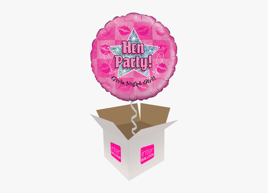 Hen Party Girls Night Out - Happy Birthday 7th Balloons, Transparent Clipart