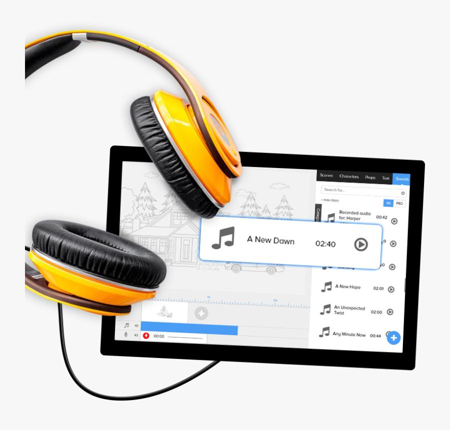 Headphones, Transparent Clipart