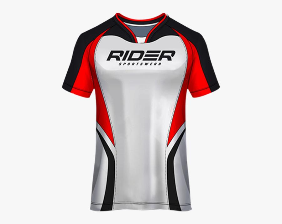 Transfer It - T Shirt Sport Design Template Soccer Jersey Rider Red, Transparent Clipart