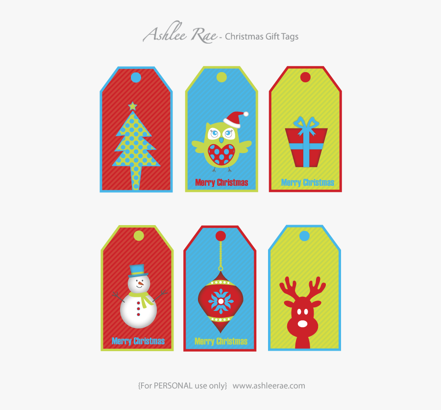 Christmas Gift Tag Clipart, Transparent Clipart