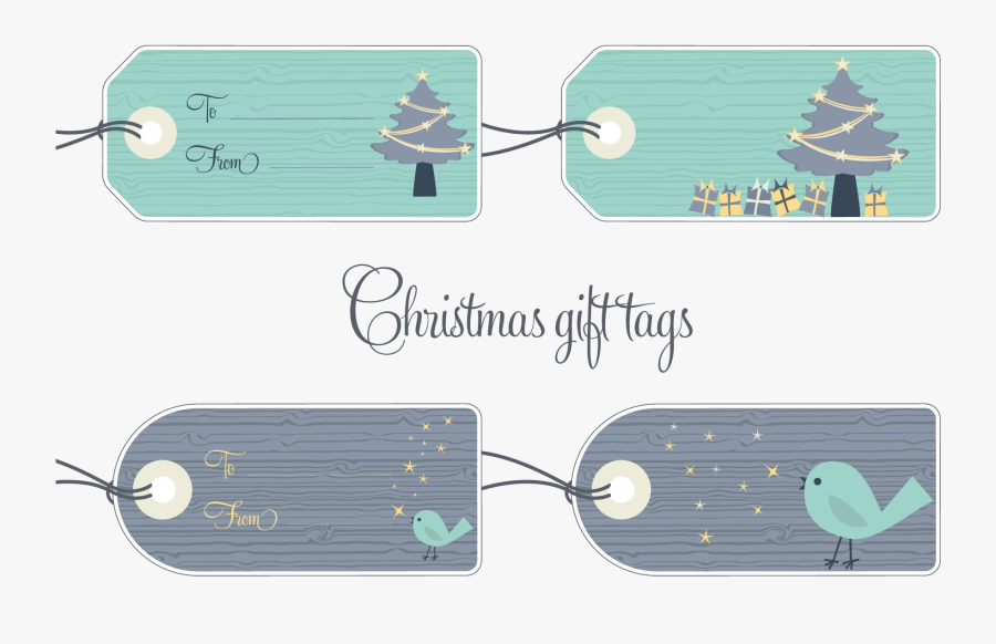 Christmas Gift Tags Example Image - Cartoon, Transparent Clipart