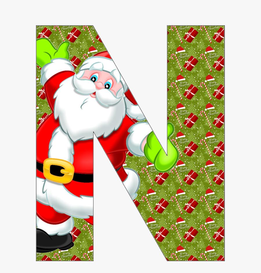 Letras Decoradas De Natal, Transparent Clipart