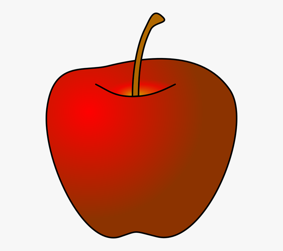 Apple, Red, Fresh, Fruit, Food, Healthy, Nature, Diet - Red Apple Drawing, Transparent Clipart