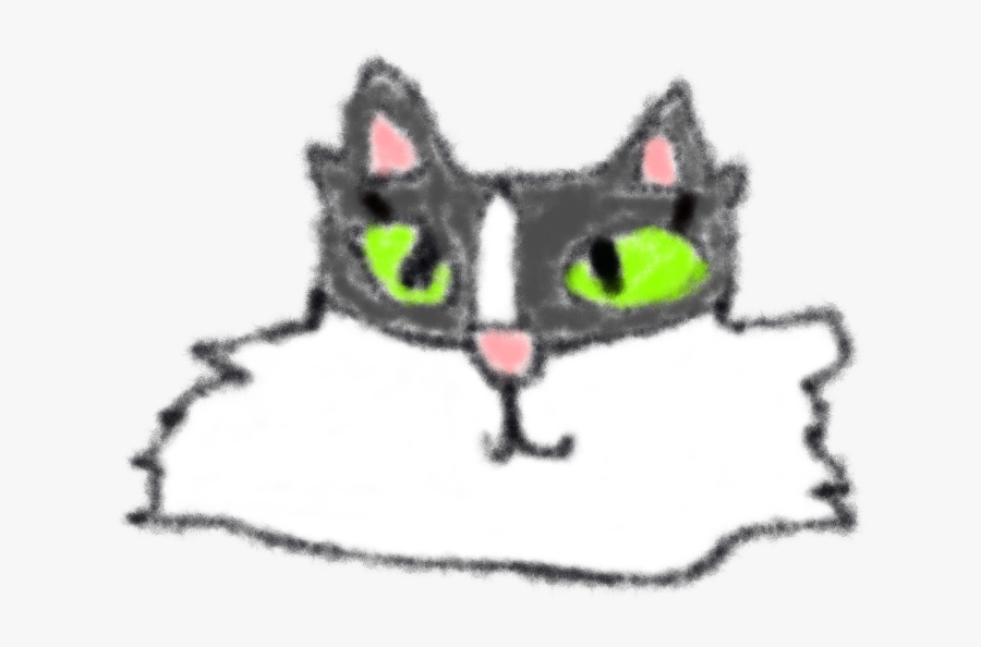 Happy Cat Day - Domestic Short-haired Cat, Transparent Clipart