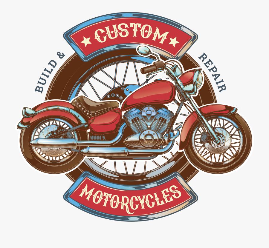 Harley Davidson Clipart Orange Cream - Logo Motor Custom Png, Transparent Clipart