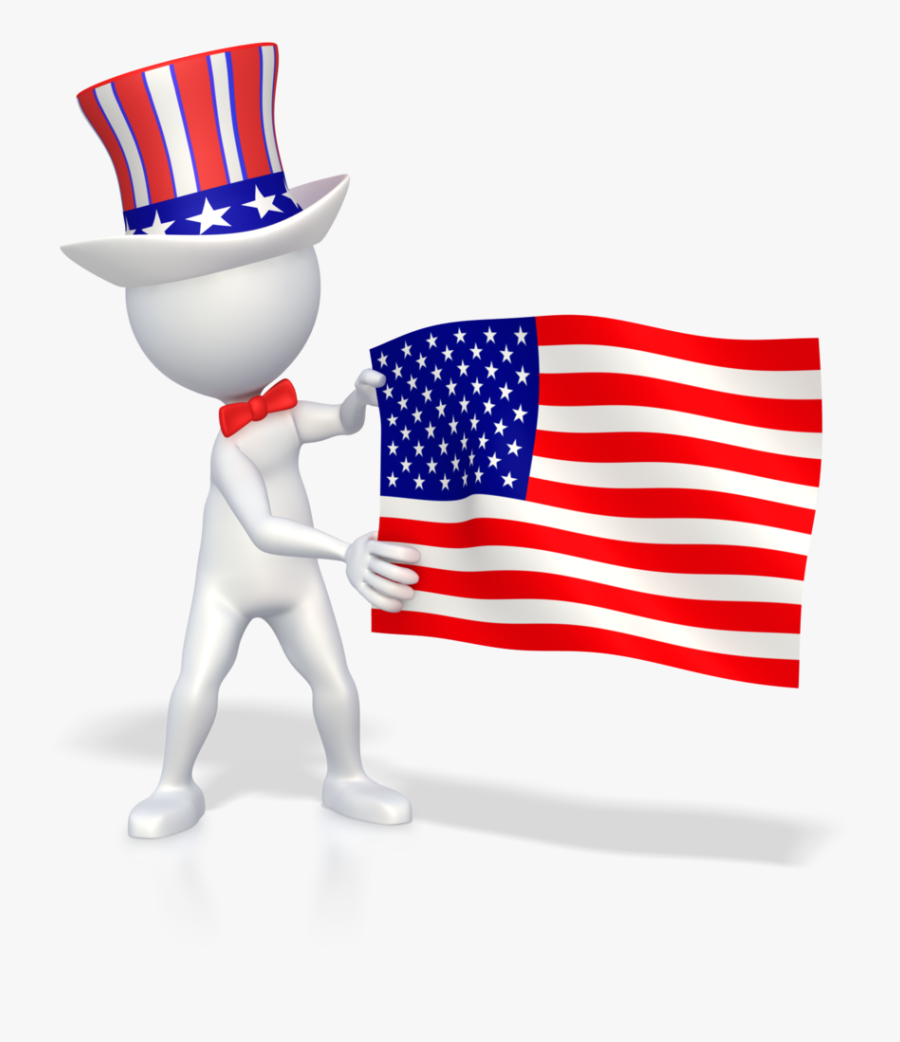 Transparent Grunge American Flag Png - Guy With American Flag, Transparent Clipart