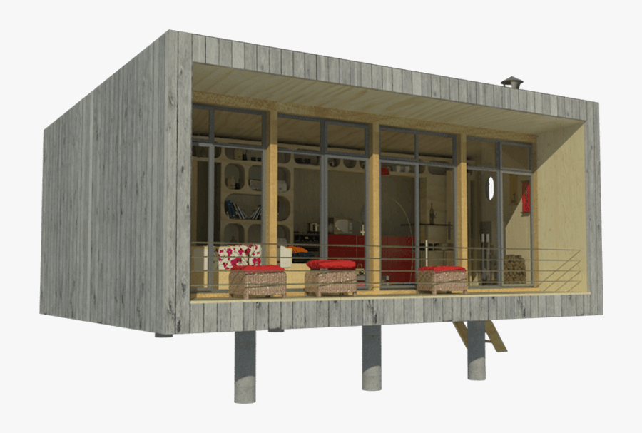 Transparent Up House Clipart - Contemporary Tiny House Plans, Transparent Clipart