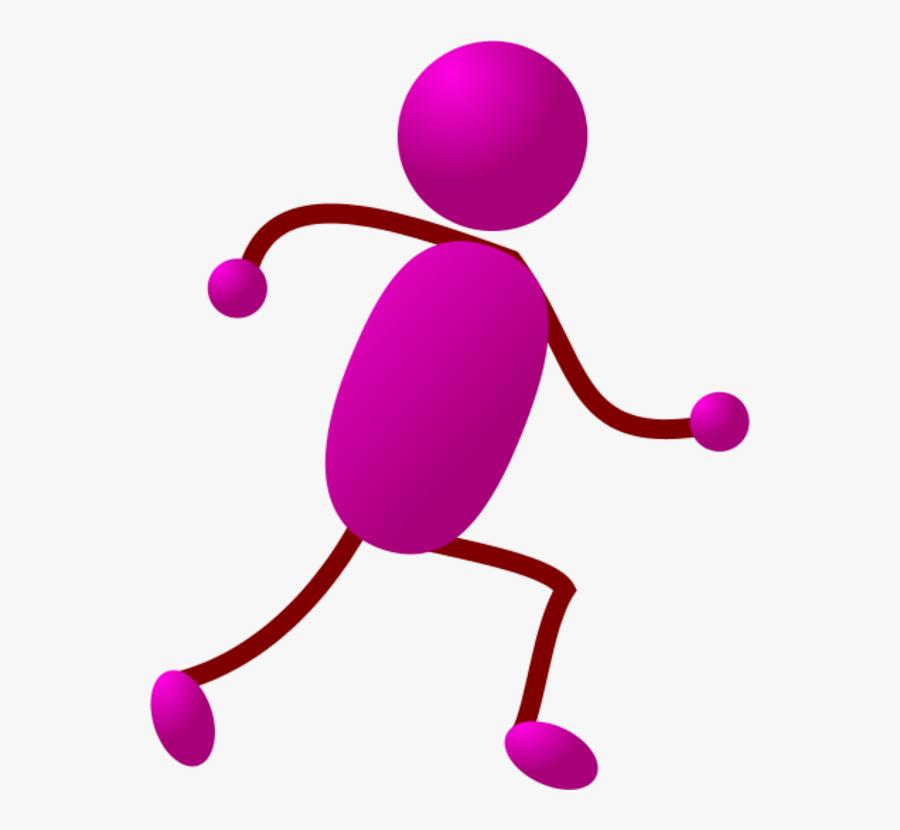 Stick Man Running Clipart - Stick Man Running, Transparent Clipart