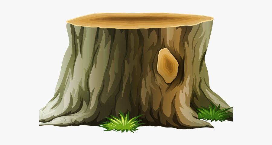 Trunk Clipart Animated Tree - Transparent Background Tree Stump Clipart, Transparent Clipart