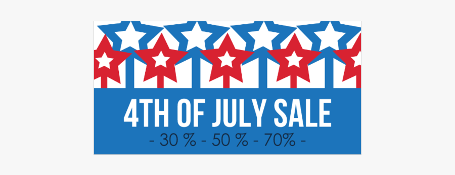 4th Of July Sale Banner, Transparent Clipart