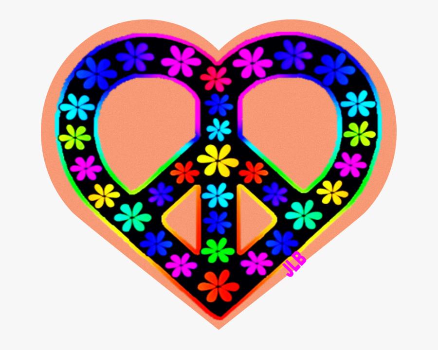 Jlb Peace Love - Heart Peace Sign Flower, Transparent Clipart