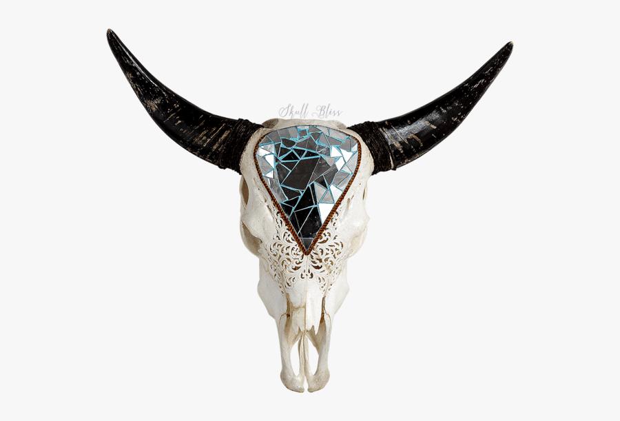Skulls Transparent Longhorn - Bull, Transparent Clipart