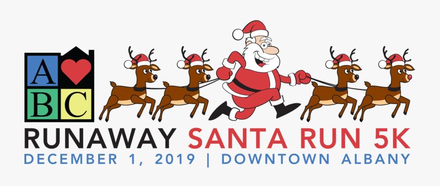 Runaway Santa Run, Transparent Clipart