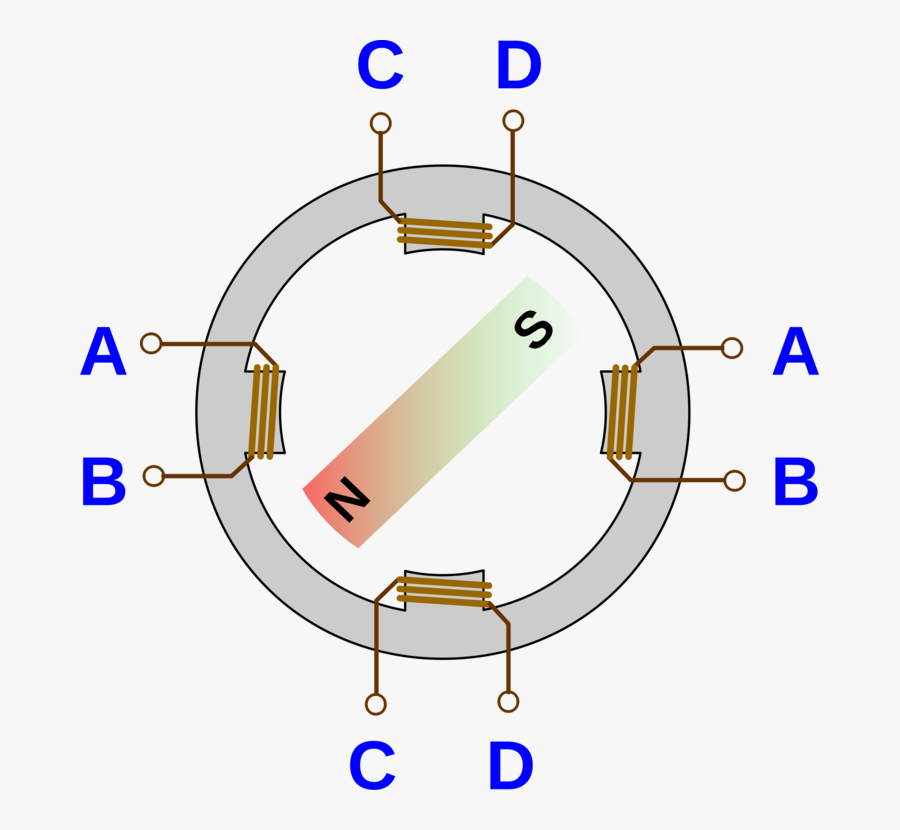 Angle,area,text - Electrical Stepper Motor Symbol, Transparent Clipart