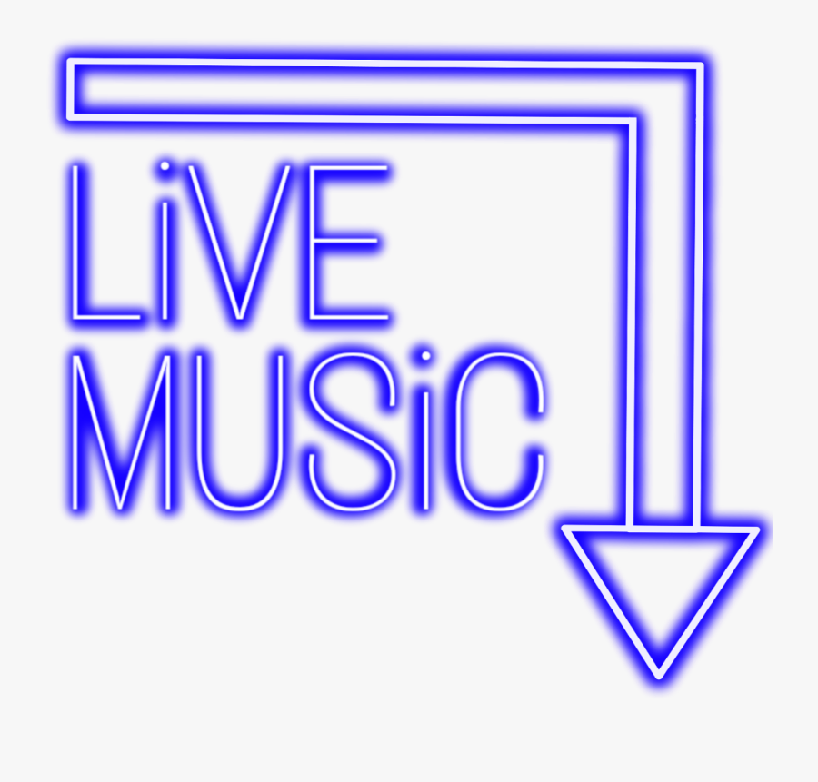 #neon #music #blue #livemusic #freetoedit #mimi #sticker - Png Neon Live Music, Transparent Clipart