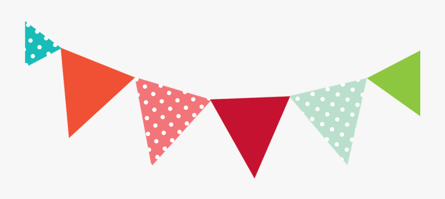 Transparent Triangle Clipart - Clipart Bunting Flags, Transparent Clipart