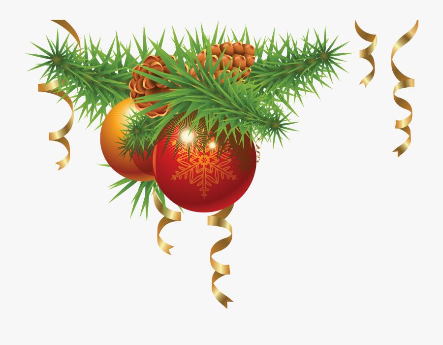 Christmas Fir-tree Png Image - Transparent Christmas Corner Border, Transparent Clipart