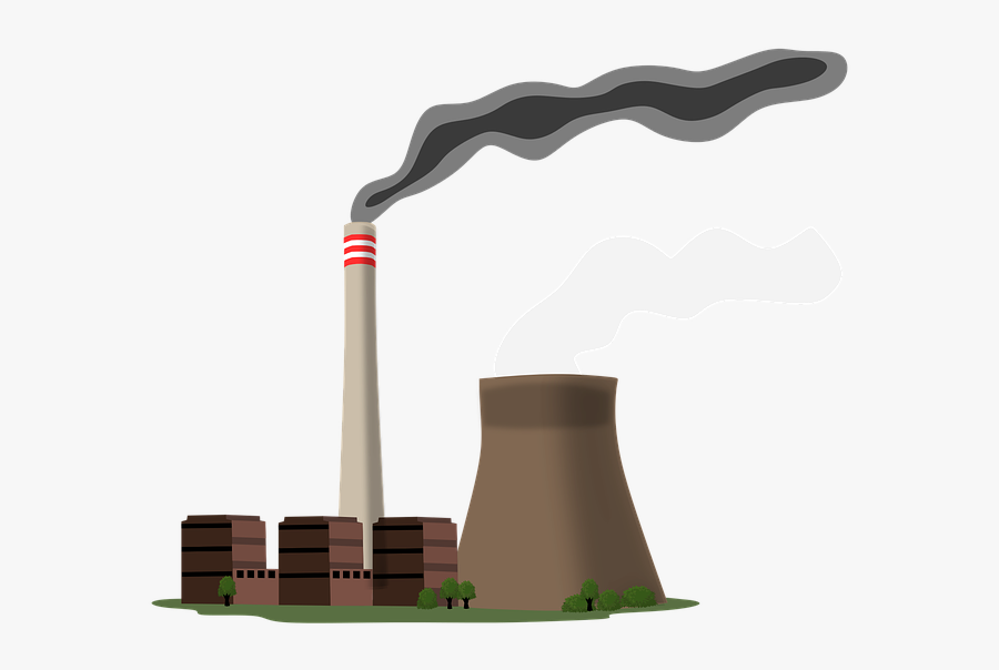 Power Station, Current, The Industry, Energy - Coal Power Station Cartoon, Transparent Clipart