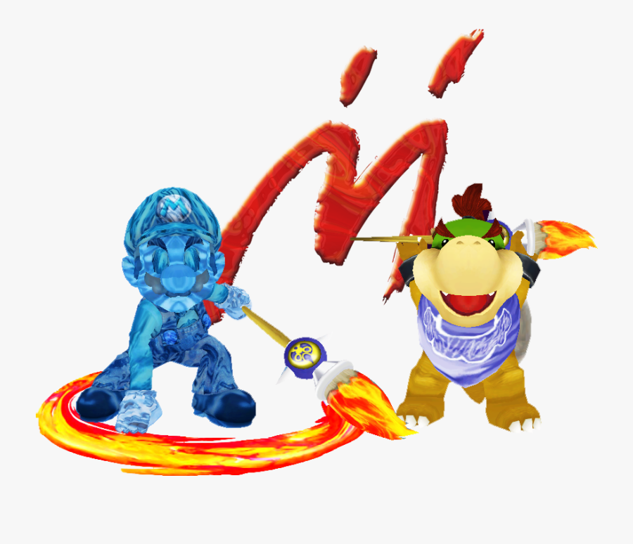 Transparent Mario Sunshine Png Shadow Mario Bowser Jr