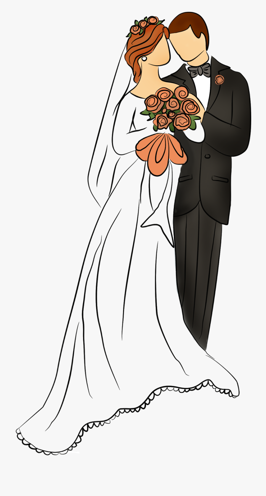 Bride Clipart Winter Wedding - Wedding Drawing, Transparent Clipart
