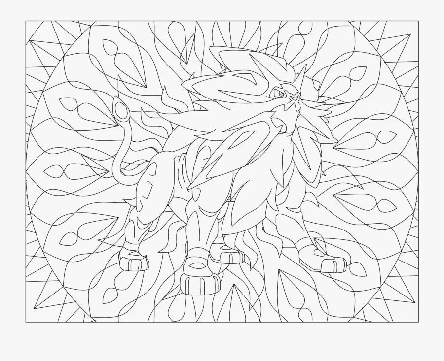 Solgaleo Coloring Pages Video Game Crafts - Mandala Pokemon Solgaleo, Transparent Clipart