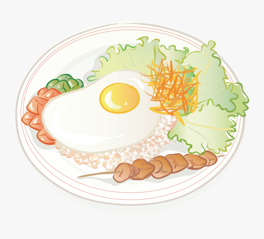 Plate Clipart Plate Rice - Rice In A Plate Cartoon, Transparent Clipart