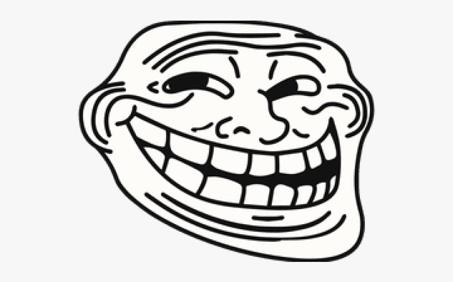 Trollface Clipart Transparent Png - Meme Troll Face Png, Transparent Clipart