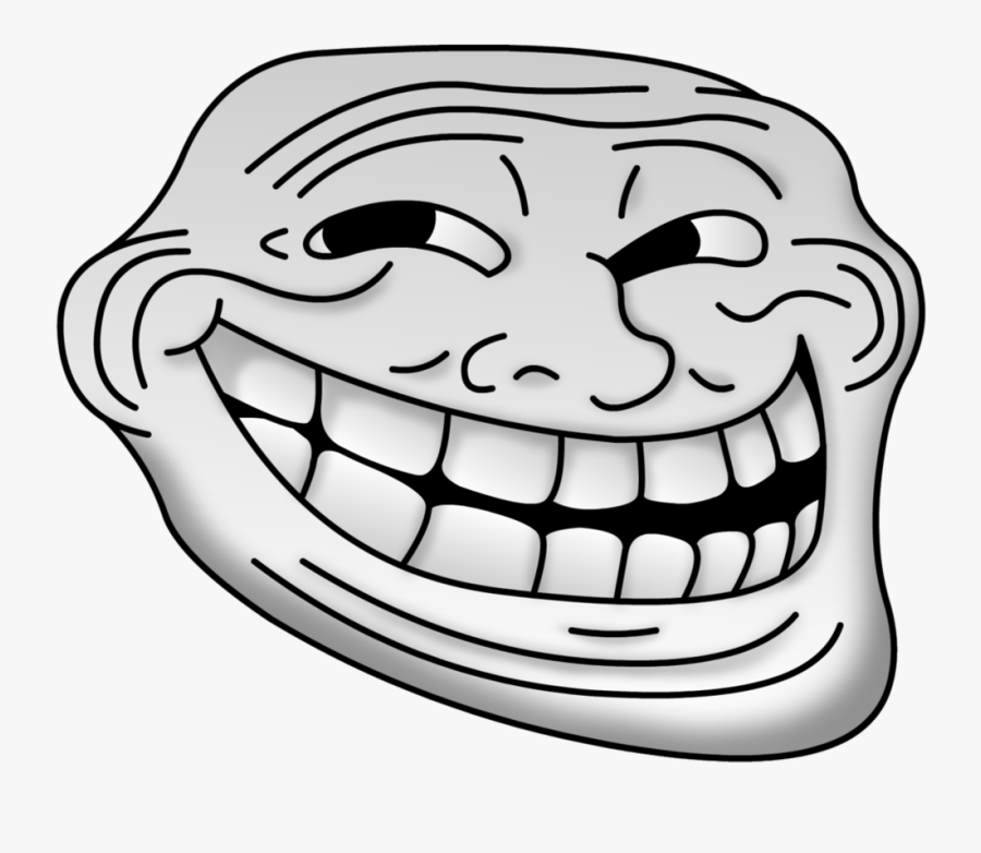 Filled Troll Face - Troll Face Transparent Png, Transparent Clipart
