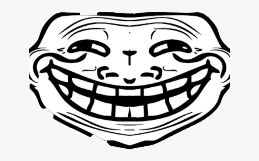Transparent Troll Face Clipart - Troll Face Front View, Transparent Clipart