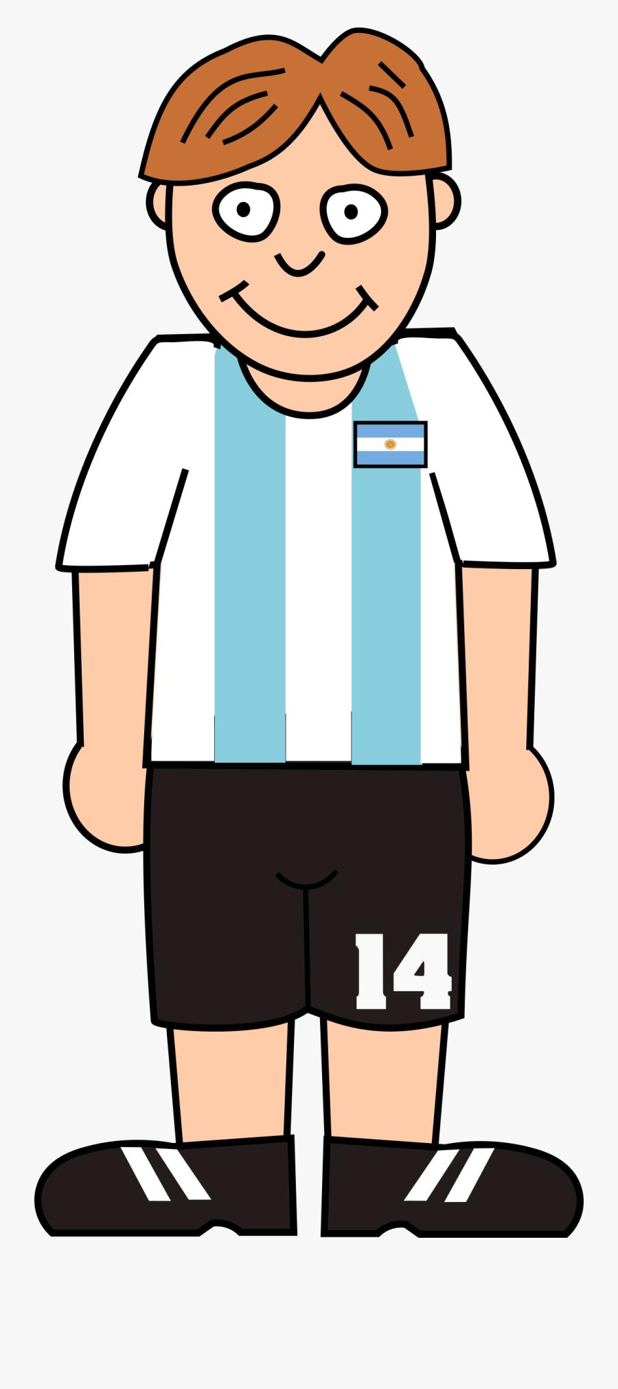 Standing Soccer Player Clipart - Soccer Player Clip Art, Transparent Clipart