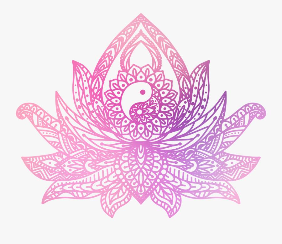 Lotus Clipart Henna - Lotus Flower Yin Yang, Transparent Clipart
