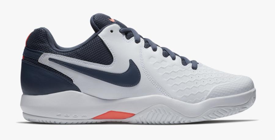 Transparent Tennis Shoes Clipart - Nikecourt Air Zoom Resistance Men's Tennis Shoe, Transparent Clipart