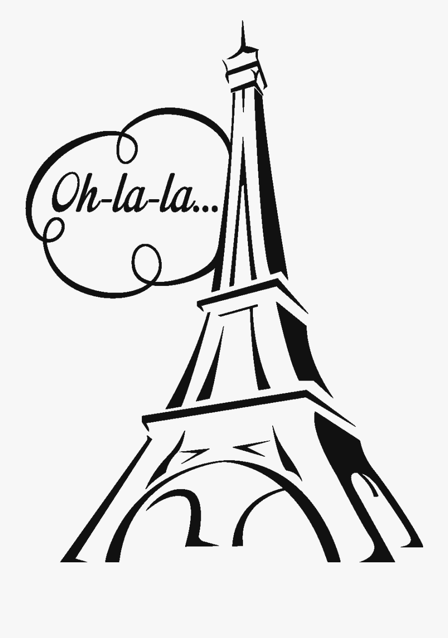 Easy Sketch Of Eiffel Tower, Transparent Clipart