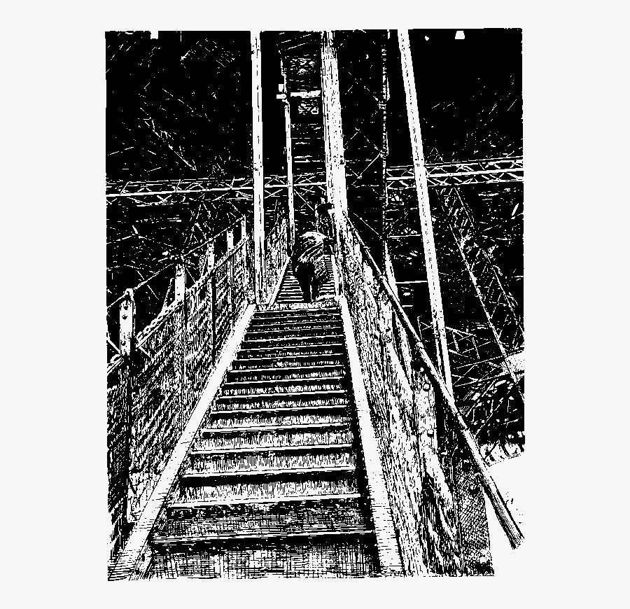 La Tour Eiffel - Stairs, Transparent Clipart