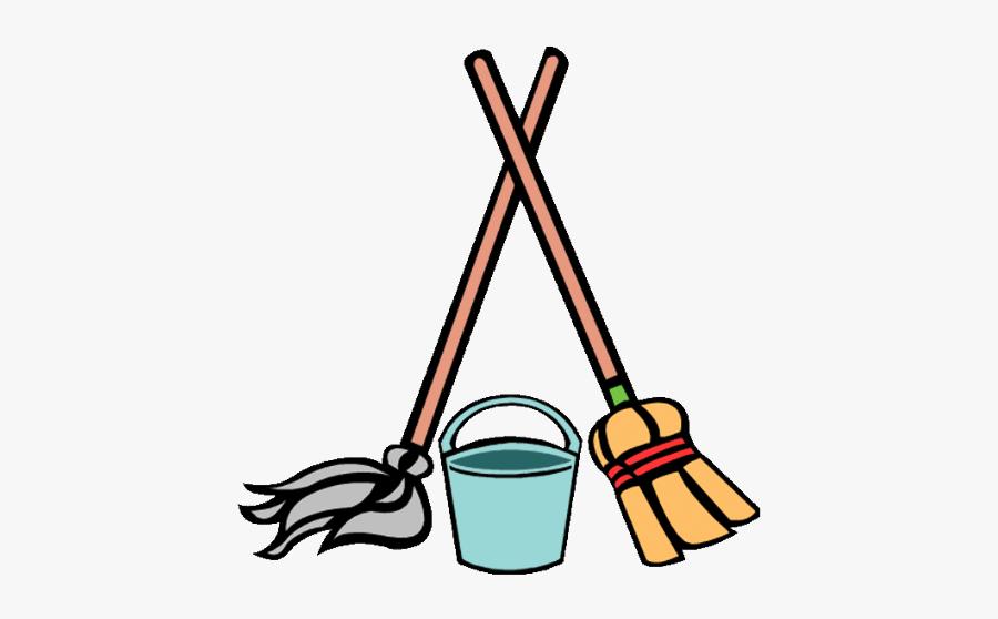 Nodi Robi Das Sweeper - Mop And Broom Cartoon, Transparent Clipart