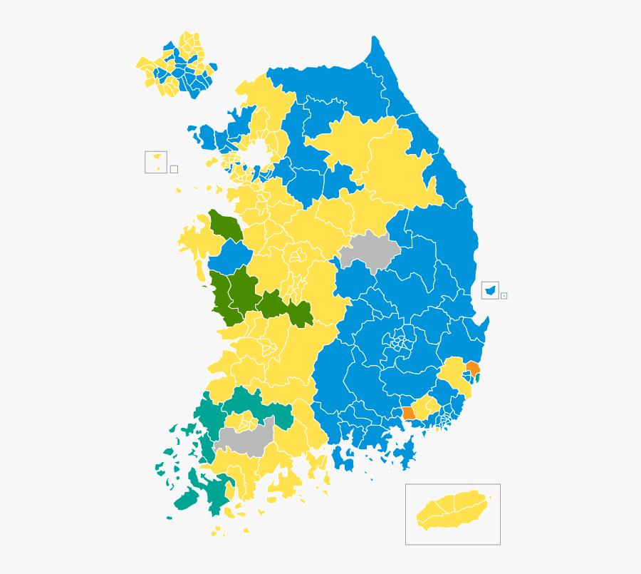 South Korean Legislative Election 2004 Districts South Korea Election Map Free Transparent Clipart Clipartkey