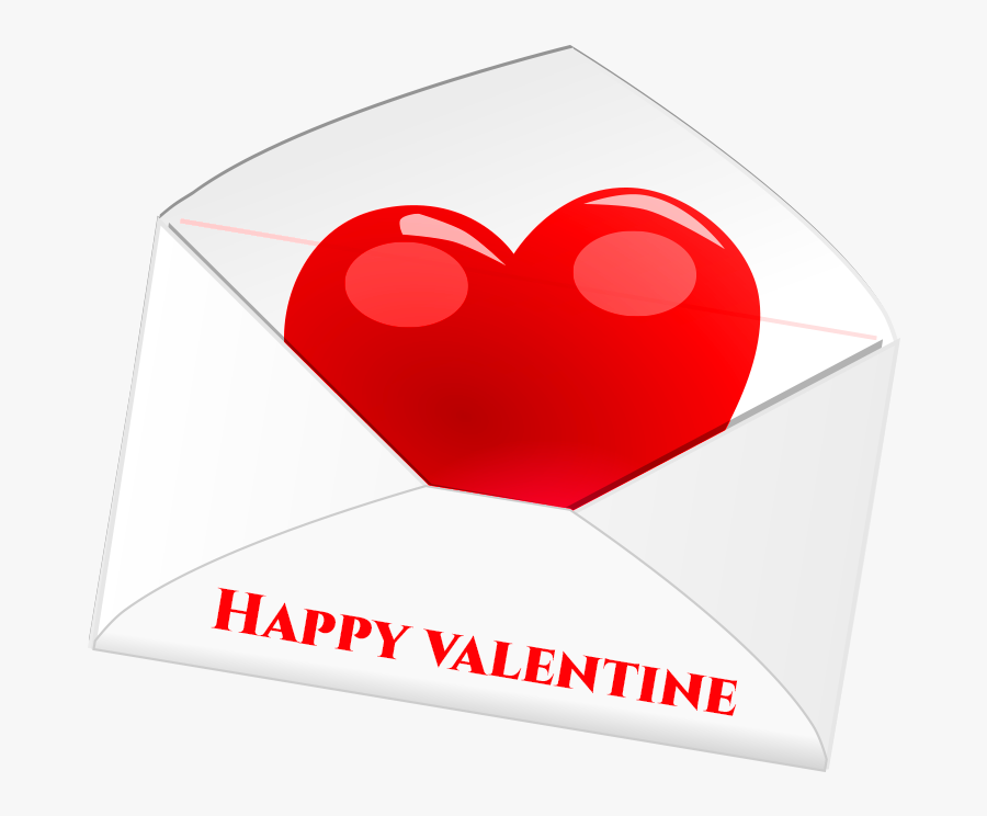 "Happy Valentine""s Day Png Letter Transparent - Heart, Transparent Clipart"