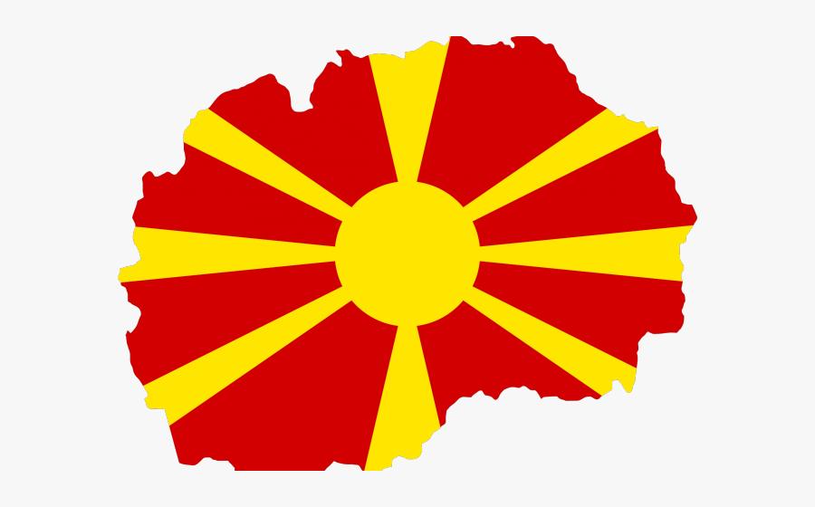 Albania Flag Clipart Alexander The Great - Macedonia Flag Map, Transparent Clipart