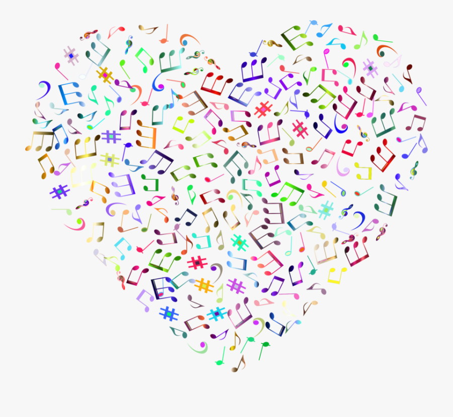 Transparent Music Notes Heart Clipart - Music Note Png Background, Transparent Clipart