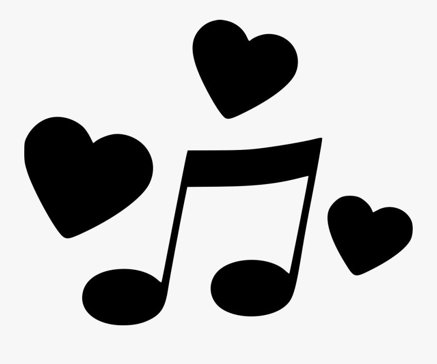 Transparent Music Notes Heart Clipart - Music With Hearts Icon, Transparent Clipart